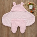 C1- Lonee-Pink Baby blanket for new born baby wrapper my newborn 3 in 1 soft swaddle sleeping bag all season _3.jpg