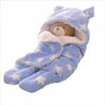 C1-SWADDLE-STAR-BLUE Baby blanket for new born baby wrapper my newborn 3 in 1 soft swaddle sleeping bag all season _3.jpg