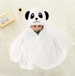 C1-White-Panda Baby blanket for new born baby wrapper my newborn 3 in 1 soft swaddle sleeping bag all season _01.jpg