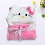 C1-Kitty Baby blanket for new born baby wrapper my newborn 3 in 1 soft swaddle sleeping bag all season _01.jpg