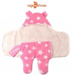 C1-SWADDLE-STAR-PINK Baby blanket for new born baby wrapper my newborn 3 in 1 soft swaddle sleeping bag all season _2.jpg