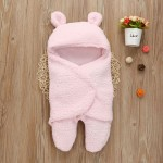 C1- Lonee-Pink Baby blanket for new born baby wrapper my newborn 3 in 1 soft swaddle sleeping bag all season _2.jpg