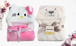 Premium New born baby wrapper/baby blankets/baby towel (0-6 months) - Pack of 2