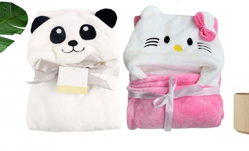 C2-Kitty-Panda Baby blanket for new born baby wrapper my newborn 3 in 1 soft swaddle sleeping bag all season blanket set _1.jpg